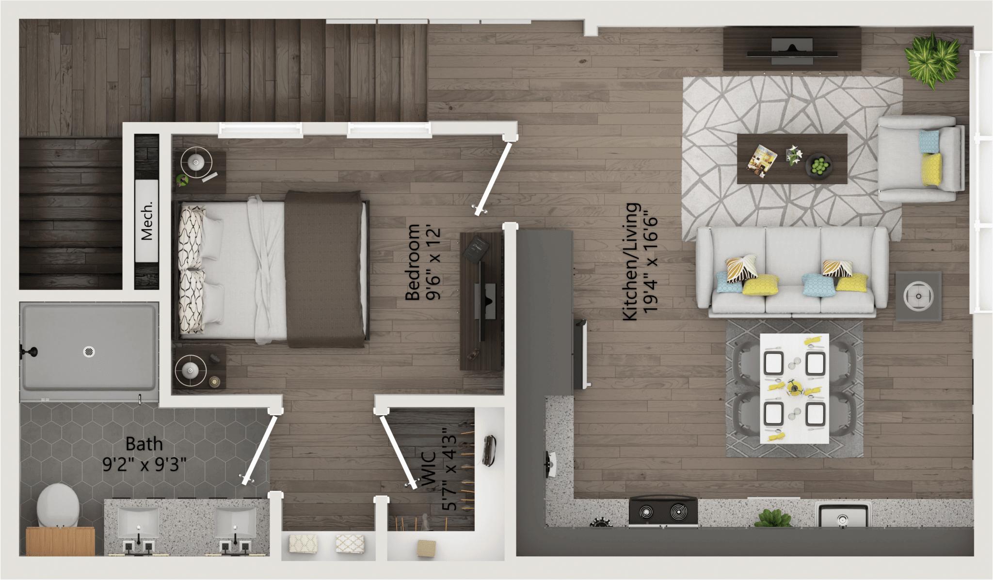 three Bedroom 1,940ft,717ft,patio